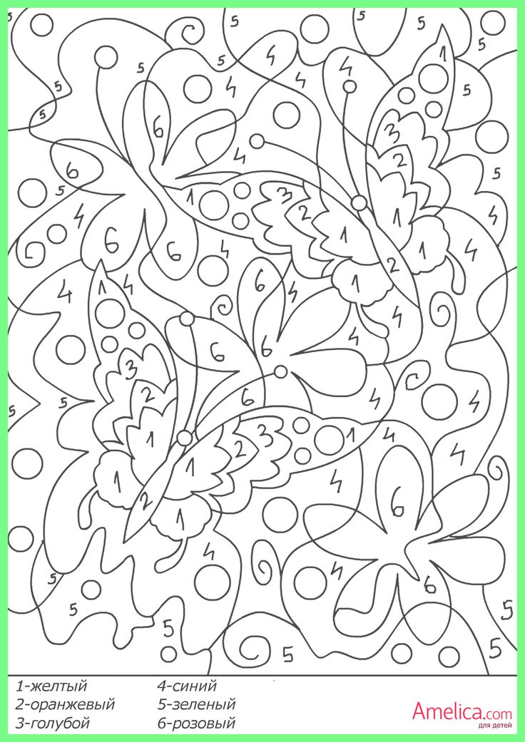 free color coded coloring pages - photo#46