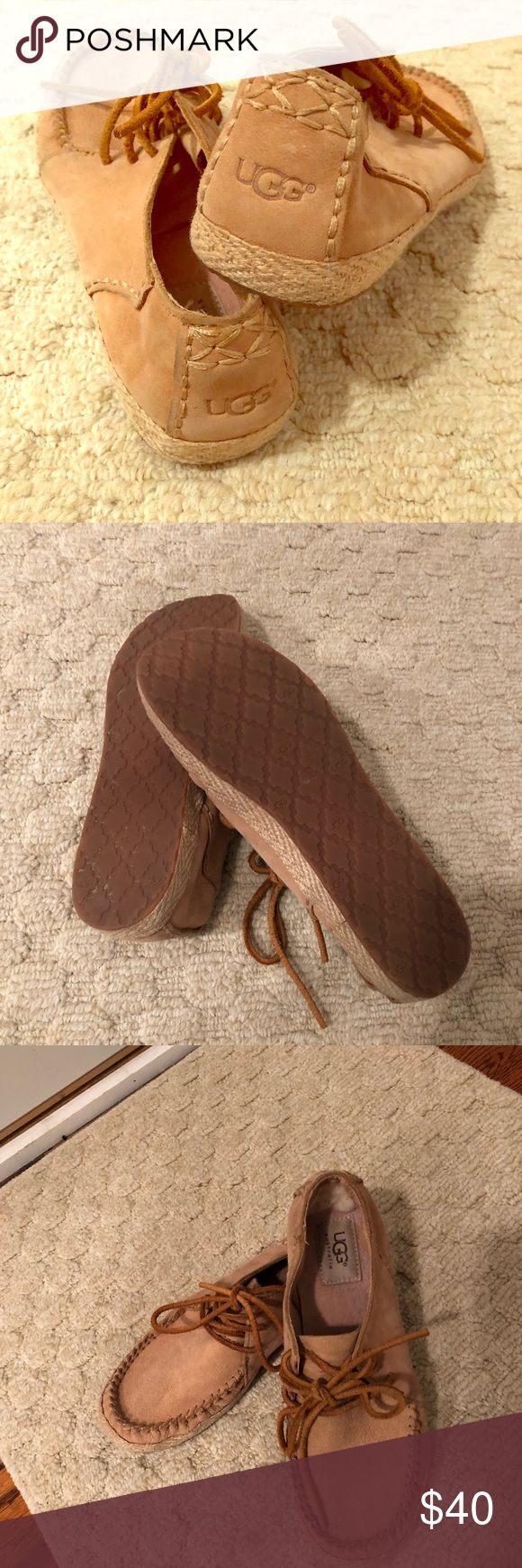 Ugg Sneaker in Classic Comfortable, low profile Ugg Sneaker with leather tie is the ideal go-to shoe. Great for travel or a quick slip on for a trip to the store! Worn only a handful of times (they are a bit too small). Size 7. UGG Shoes Flats & Loafers
