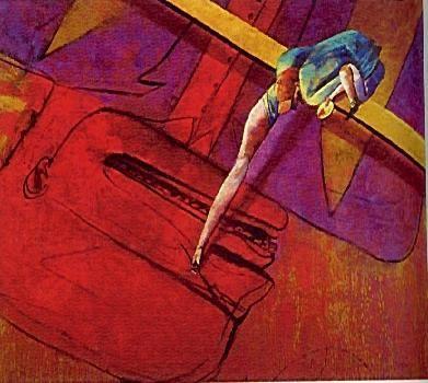Autorretrato pintando un asesino - German Londoño