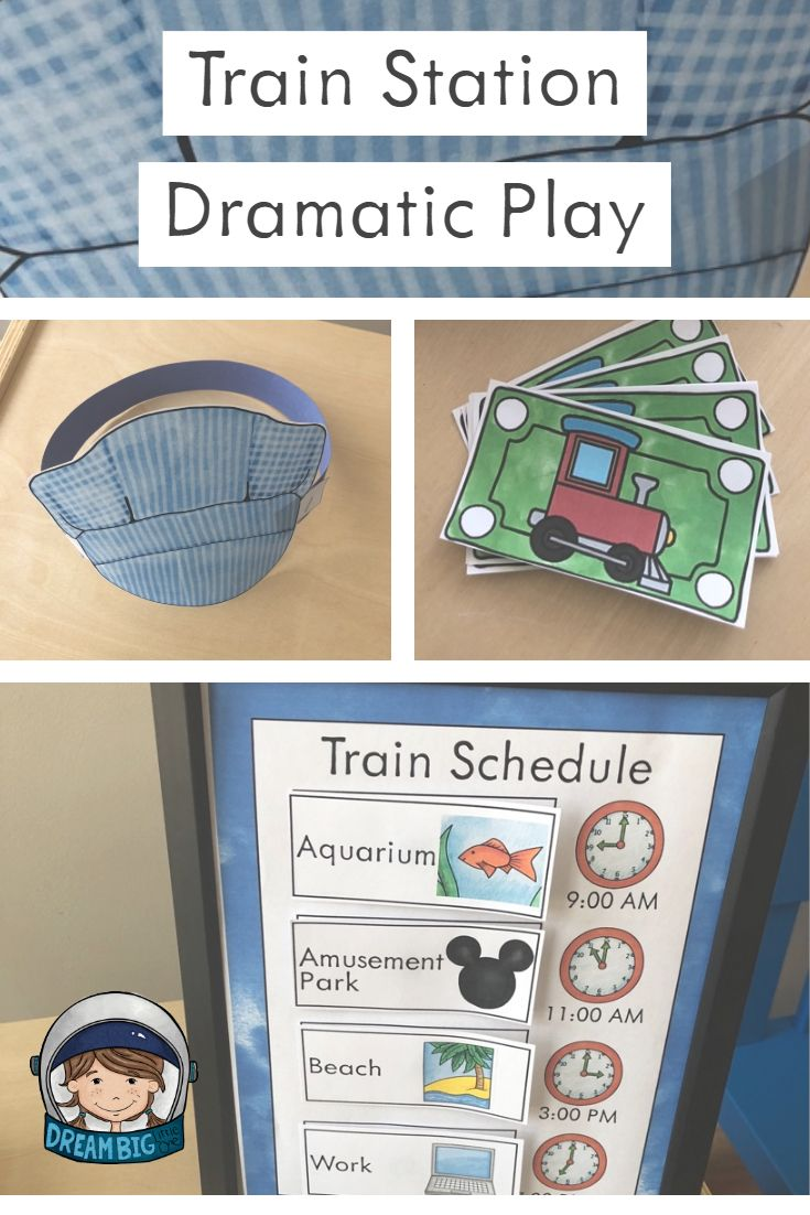 Train Station Dramatic Play For Preschool And Kindergarten Dramatic Play Preschool Dramatic Play Dramatic Play Centers