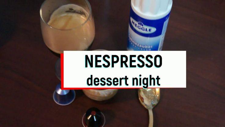 Nespresso decaffeinato 밤에 커피 디저트!