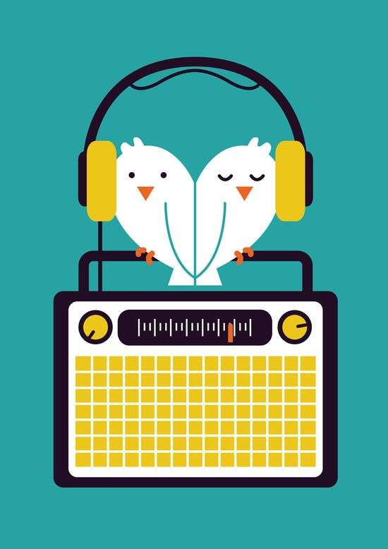 Poster | RADIO MODE LOVE von Budi Kwan | more posters at http://moreposter.de