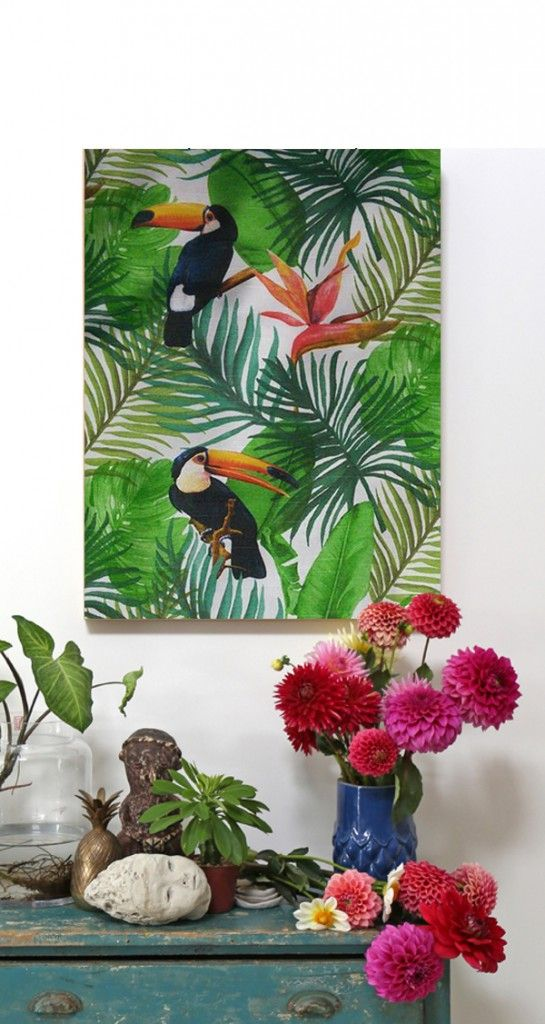INSPIRATION - tropicália - hall Canvas for sale.