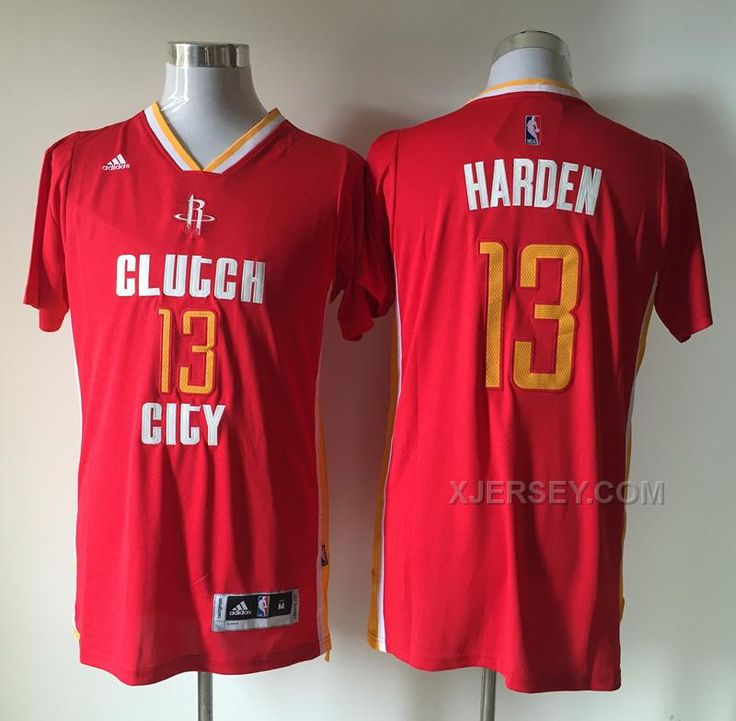 f2a21a249b9 ... get buy nba houston rockets 13 james harden red clutch city short  sleeve jersey from reliable