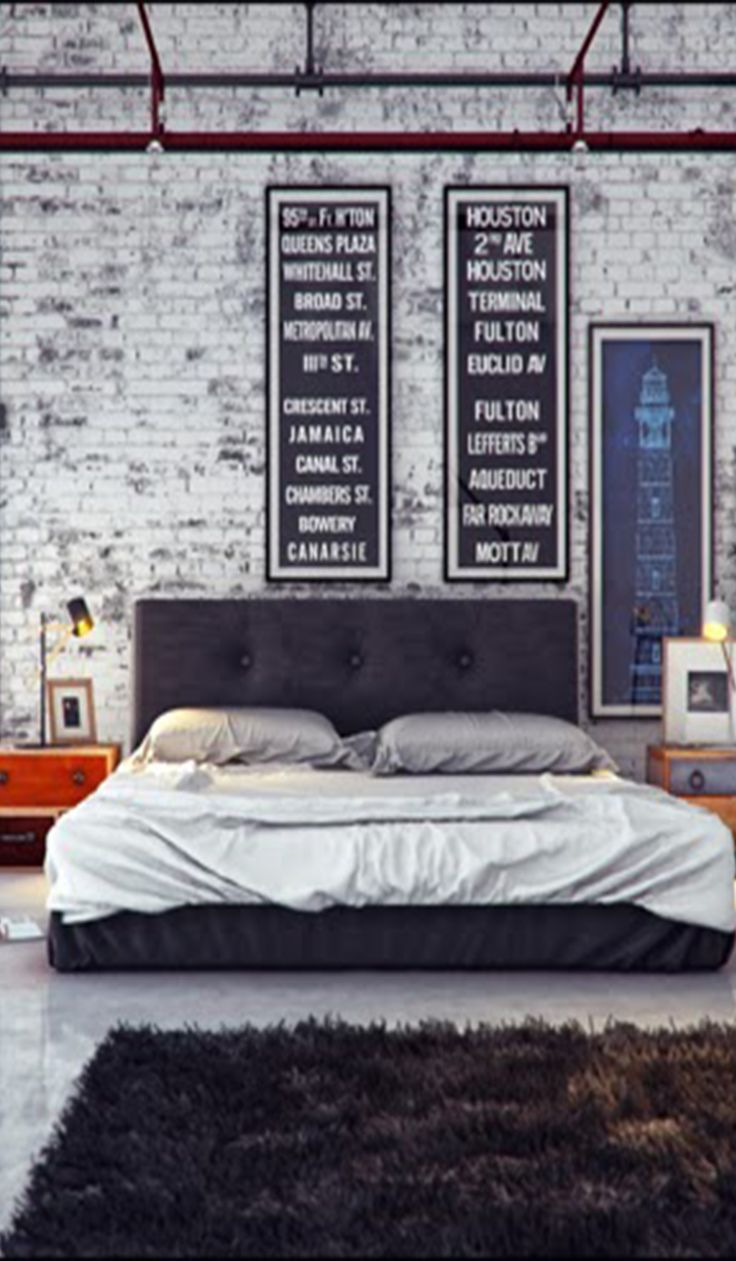 Beautifully Industrial Bedroom With That Lived In Feel