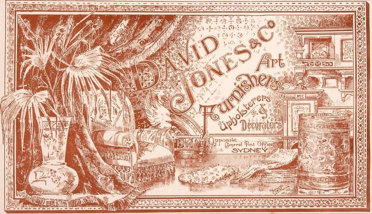 David Jones catalogue, c1895   SYDNEY'S HOME FURNISHING STORES, 1890-1960   http://sydneylivingmuseums.com.au/stories/sydneys-home-furnishing-stores-1890-1960