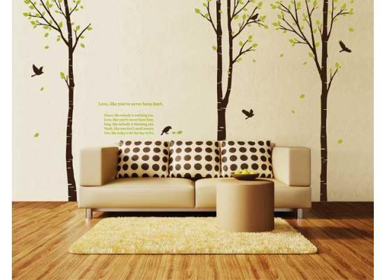 wandsticker wandtattoo birkenwald brauner baumdieses wandpuzzle bietet dir ein stck natur wunderbar geschaffen fr groe