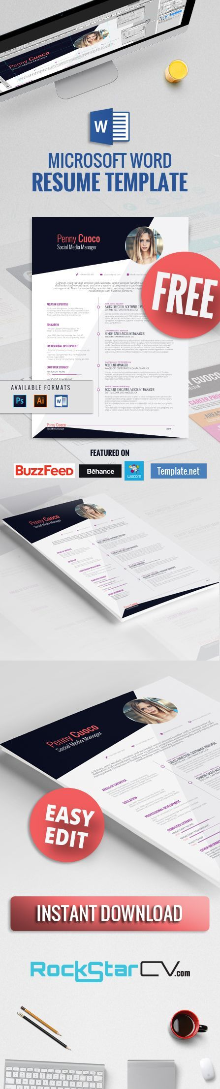 ★ Askella – FREE Resume Template ★  If you are looking for a #free #resume #template, please check out:  http://rockstarcv.com/product/askella-resume-template/   It's fully #editable and comes in MS Word, Photoshop and Illustrator format.