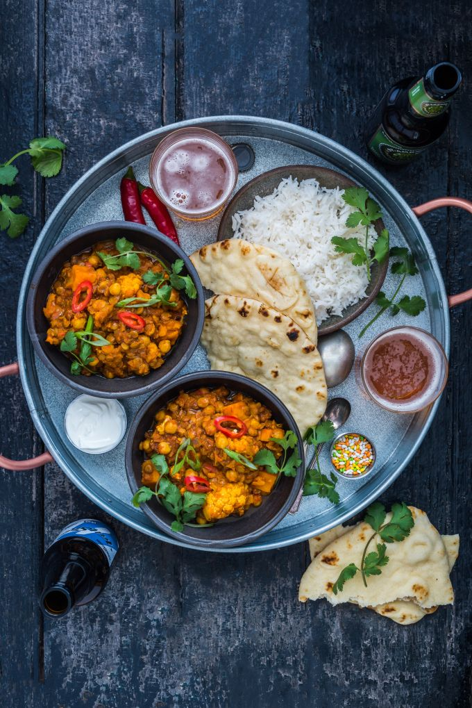 Sweet Potato Cauliflower Dahl Curry