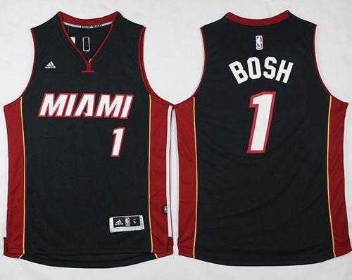 Miami Heat #1 Chris Bosh Stitched Black NBA Jersey