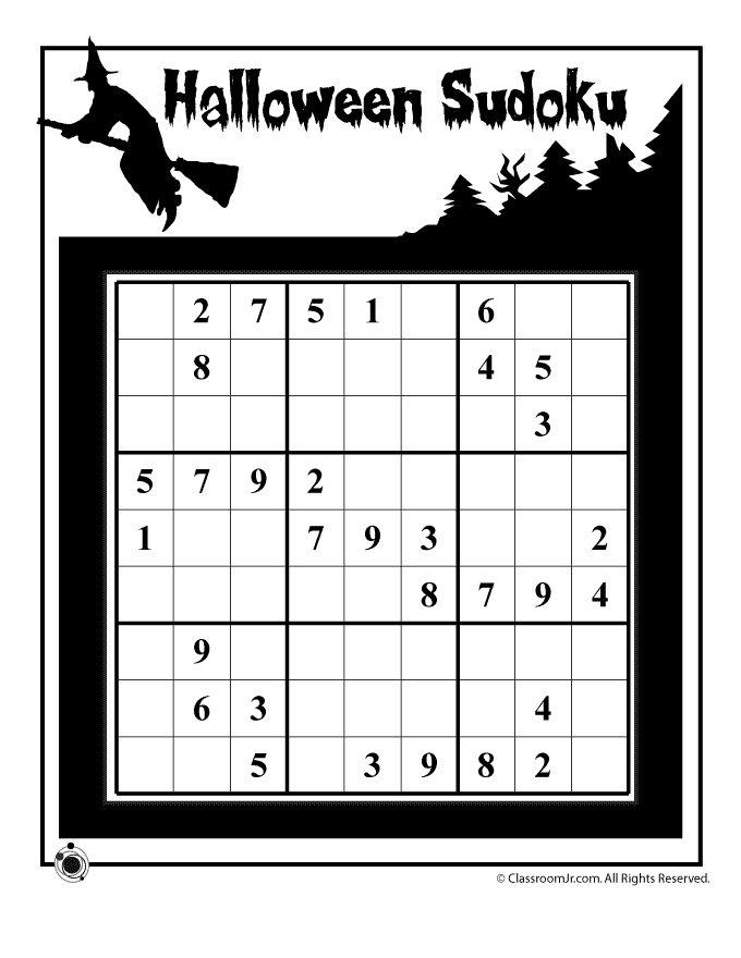 cute halloween math- sudoku