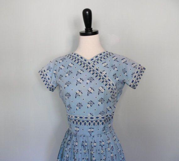 vintage 1950s Dress  // Carolyn Schnurer Folk by AdelaideHomesewn