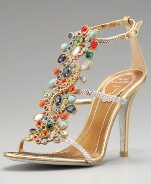 Jeweled Sandals From India | Glittering Indian Wedding Shoes | Design