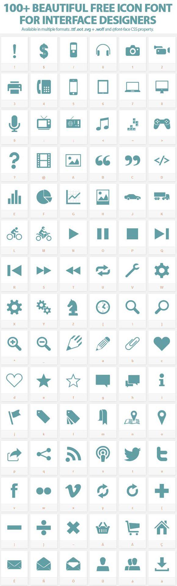 158 Free Web Font Icons by TenbyTwenty. #freebie #webfont #icons