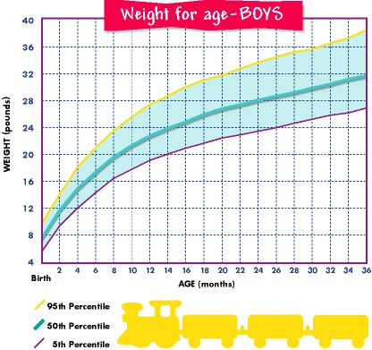 Pampers growth chart for boys by percentile:  I'm using this to make a plan of how many diapers of each size I'll need. :)