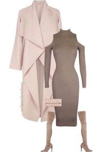Pretty Wedding guest outfits for Cold weather as a guest. Weddings in the fall and winter need outfit ideas with coats and boots with a clutch.