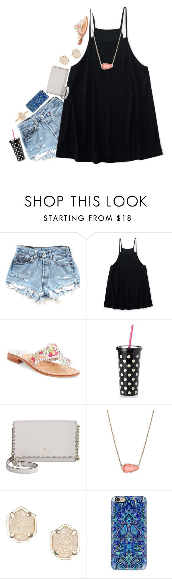"""""""New layout. Just trying new things"""" by pandapeeper ❤ liked on Polyvore featuring Aéropostale, Jack Rogers, Kate Spade, Kendra Scott and Casetify"""