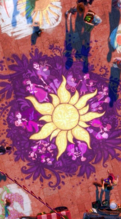 pretty sun painting from tangled � disney tangled rapunzel
