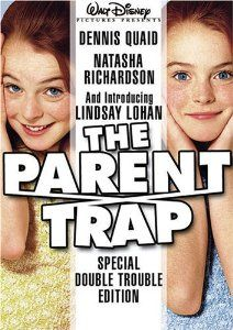 The Parent Trap (1998) starring a young (and still innocent) Lindsay Lohan alongside Dennis Quaid and Natasha Richardson is a remake of the 1961 movie by the same name which starred Hayley Mills.  The film is about a pair of separated twins that meet for the first time at summer camp and are determined to get their divorced parents back together.