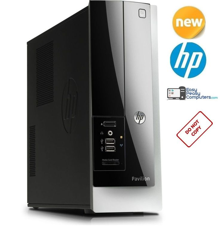 BRAND NEW HP Pavilion Desktop Computer Windows 10 WiFi 4GB 500GB + FULLY LOADED #HP #computer