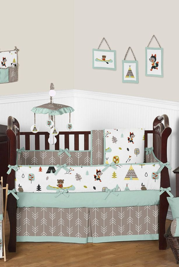 Outdoor Nature Adventure Baby Bedding 9 Piece Crib Set Animal Theme Cribs Sets