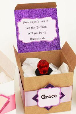 A fun way to pop the question to your bridesmaids #wedding #bridesmaids #willyoubemybridesmaid