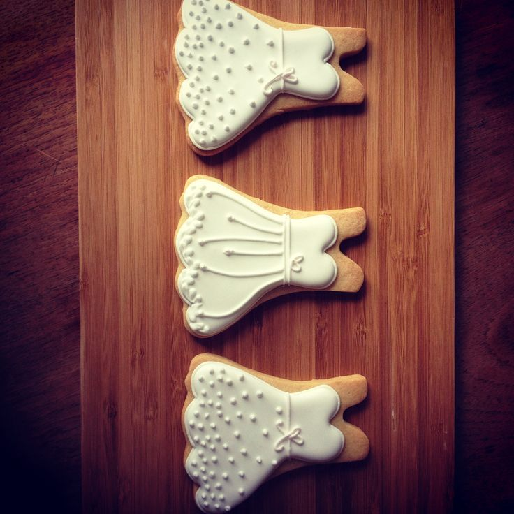 Wedding dress cookies - Cakes by Beate, The Birdcage Stellenbosch