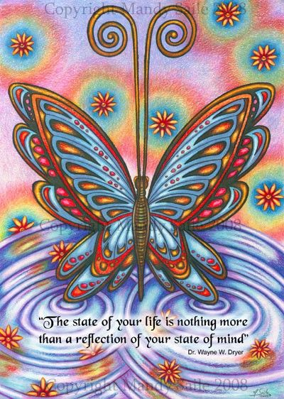State Of Mind BUTTERFLY ART PRINT 8 x 10 by by BijousWhimsy