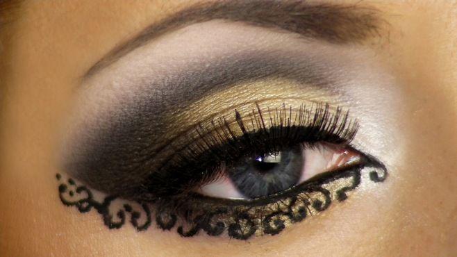 Yaratıcı Arap Makyaj Yapımı - Özel günler yada gece için uygulayabileceğiniz yaratıcı Arap makyajı tekniği (Lace Arabic Makeup Video)