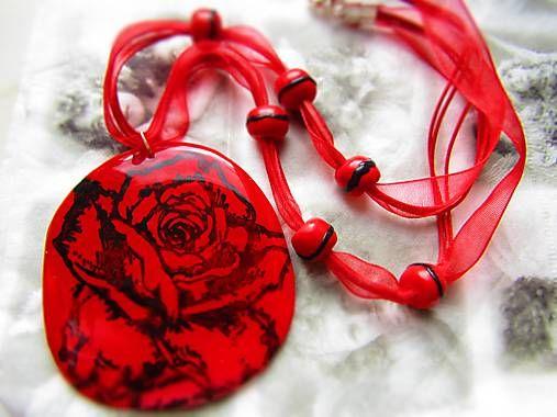 Atelier-Muza / Náhrdelník ruža v srdci