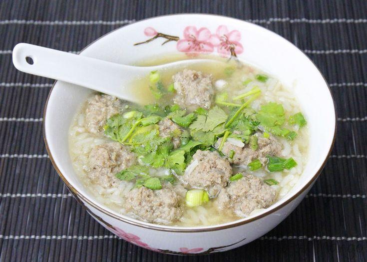 Rezept Khao Tom thailändische Reissuppe