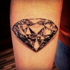 Beautiful realistic diamond tattoo.