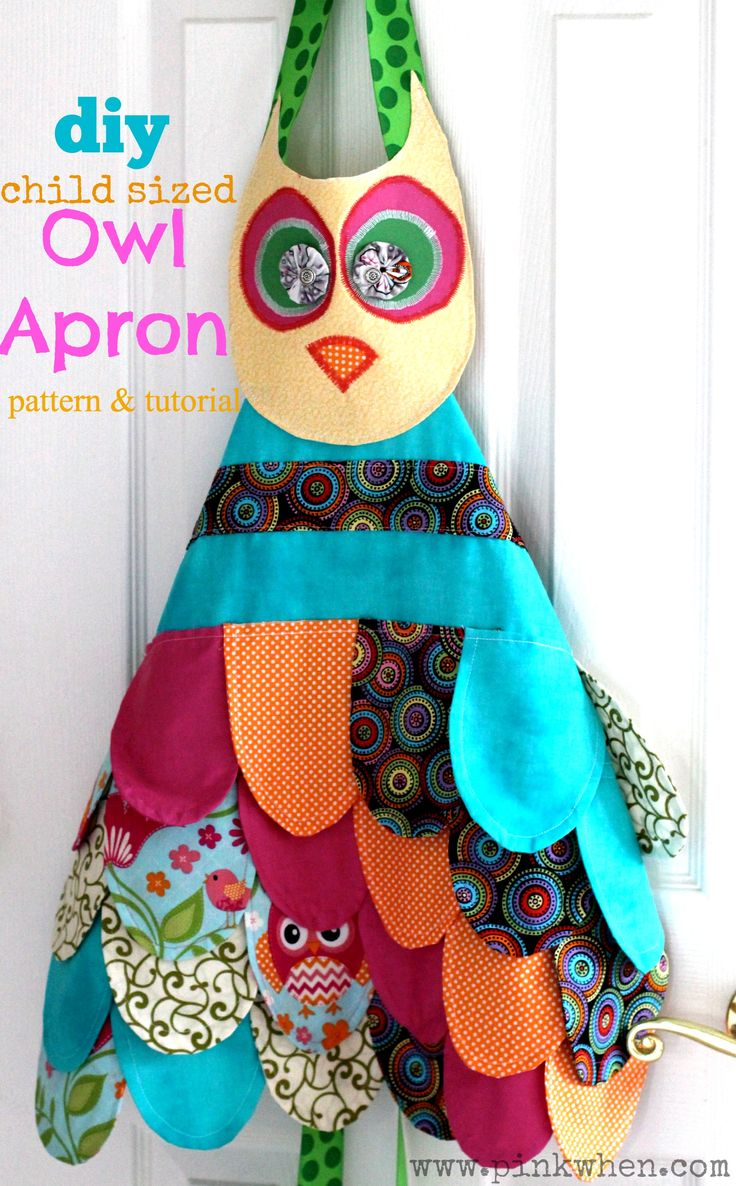 My Little Owl Apron - A cute first apron for the little helpers in the kitchen - free pattern and step by step tutorial - and it's easy!