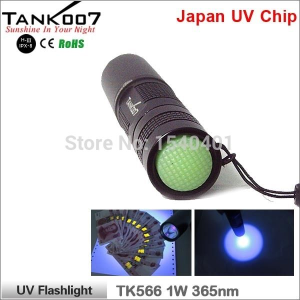 51.19$  Watch here - http://alimve.worldwells.pw/go.php?t=32621127758 - Free Shipping black lights TANK007 TK566 LED Outdoor Portable Torch uv Flashlight 365nm 1W linterna japonesa lighting 51.19$