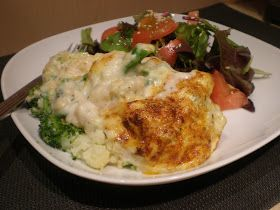 La cuisine de Radisjoli: Gratin de brocoli, chou-fleur et lentilles rouges