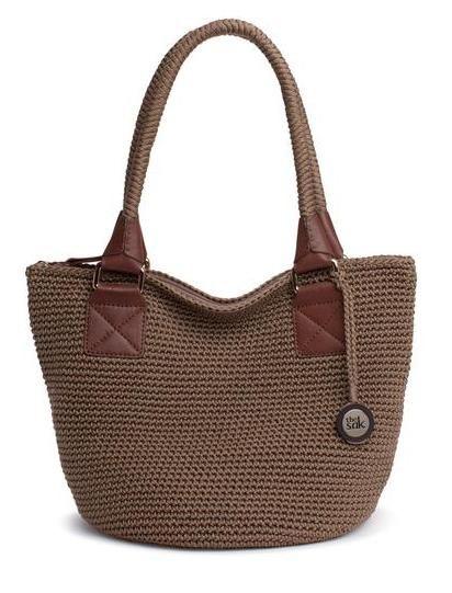 Cambria Medium Round Tote Solids - crochet bag - the sak