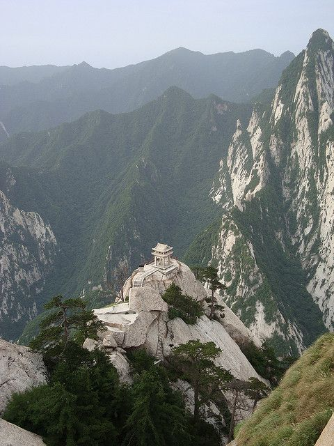 Xiaqi Pavilion in Hua Shan, the sacred mountain of Shaanxi Province, China (by irishtravel).: Natural Beautiful, Huashan, China Travel, Hua Shan, Sacred Mountain, Mount Hua, Xiaqi Pavilion, Exotic China, Shaanxi Provinces