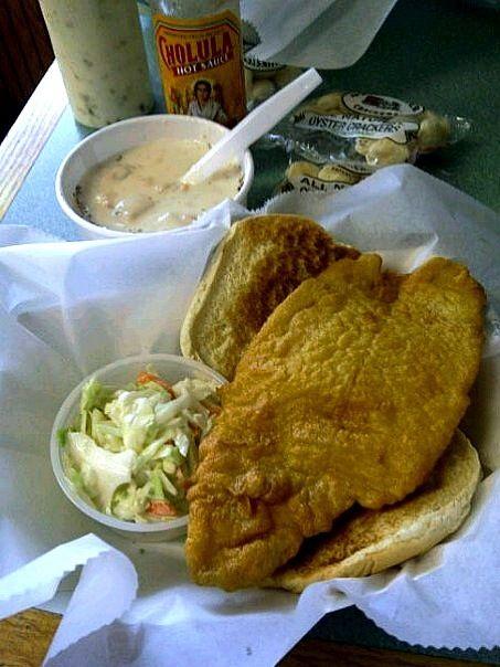Fish Sandwich, Clam Chowder, Cape Cod