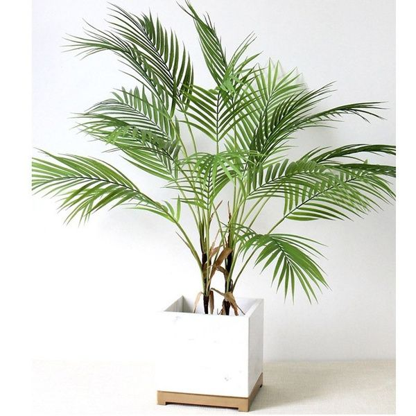 Palm Tree Artificial Leaves Branches Vivid Wild Foliage Plant For Home Wedding Living Room Diy Decoration Jungle Party Wish In 2021 Artificial Palm Leaves Artificial Flowers Plant Decor