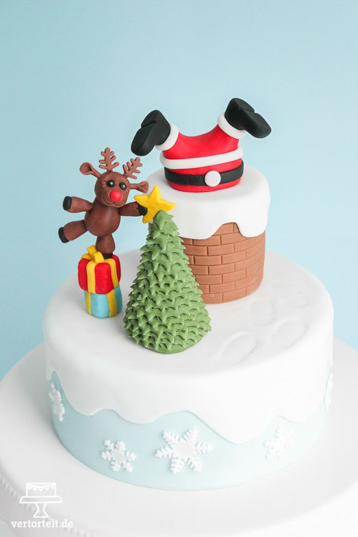 Ho! ho! ho! Eine Torte, die nach Weihnachten schmeckt. Santa Claus steckt im…