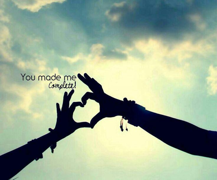 #YouMadeMeComplete!