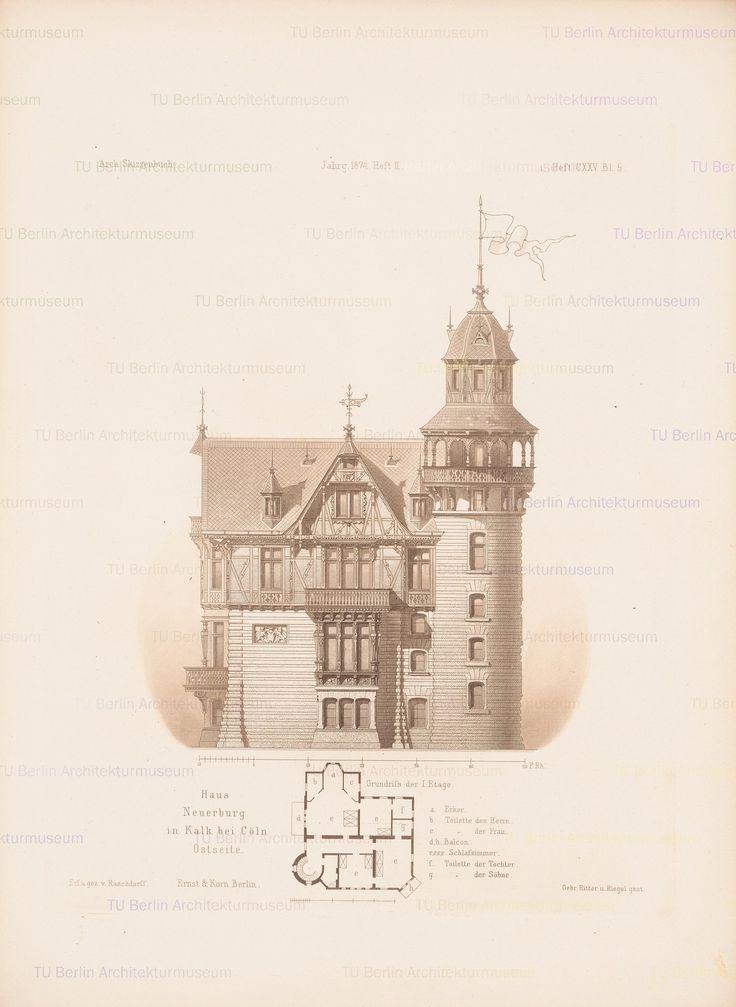 Titel   Haus Neuerburg, Köln-Kalk. (Aus: Architektonisches Skizzenbuch, H.125/2…