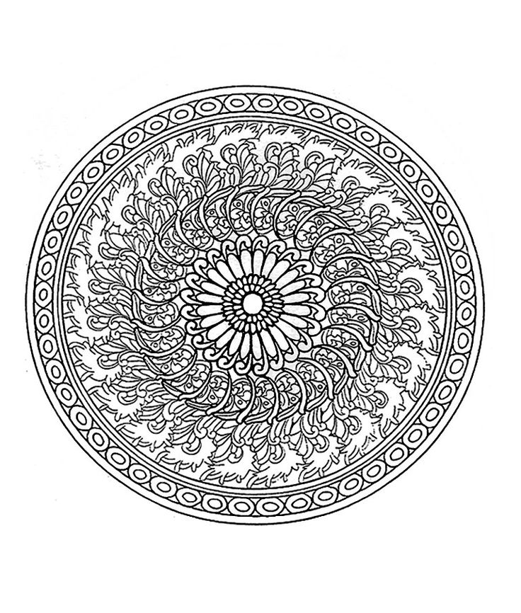 540 best images about mandalas coloring pages embroidery patterns etc on pinterest - Mandala pour adulte ...