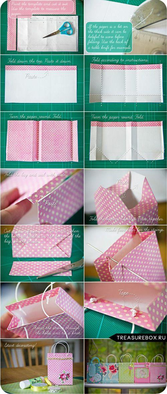 Пакет для подарков из бумаги своими руками