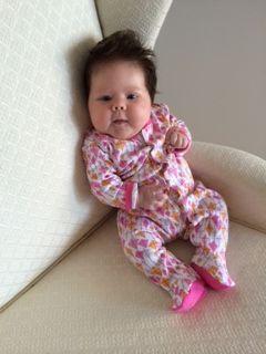 Baby Alice sporting her Kites Footie