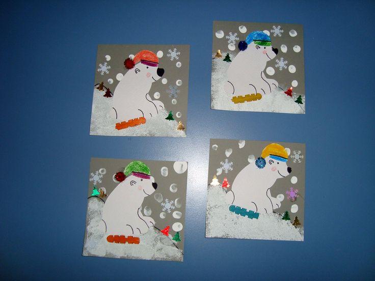 Pole bear paper craft