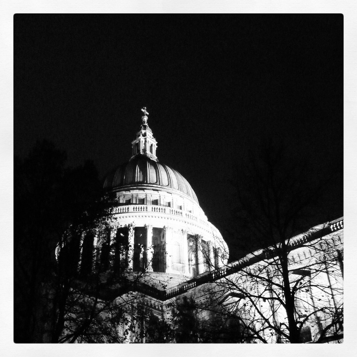 St Pauls Cathedral by night, Walking tour, London, 2012