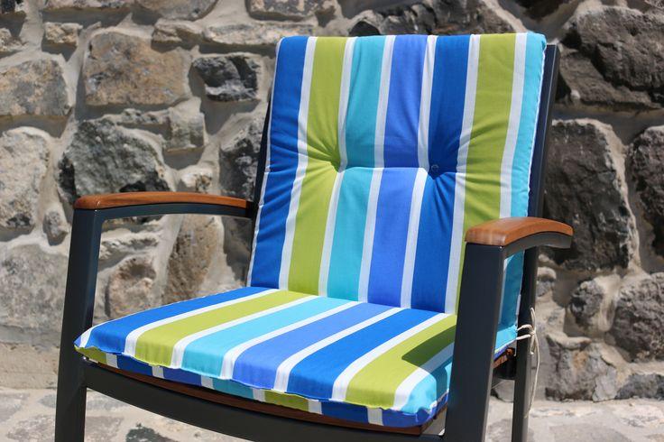 Miami Blue - Gartenstuhl Auflagen - Gartenmöbel Auflagen