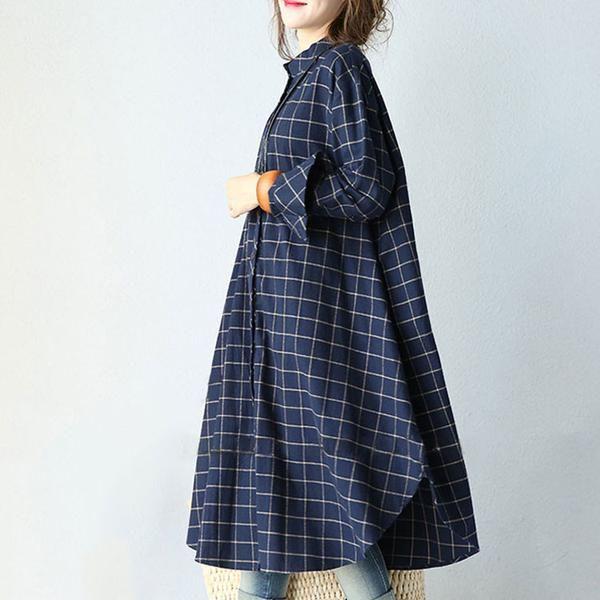 Material:100% CottonCollar: POLO NeckSleeve:Long sleeveWaist Type:Loose waistStyle :Casual Design Details: Button Season: Spring, Autumn, Winter Pattern:Stripe