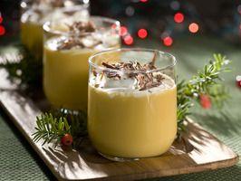 Uncle Billy's Holiday Treat    1-1/2 oz. Bols Advocaat liqueur (creamy blend of egg yolks, aromatic spirits, brandy and a hint of vanilla)   1 oz. Kahlua coffee liqueur   1 oz. Frangelico hazelnut liqueur   1/2 oz. honey   1/2 oz. whipped cream